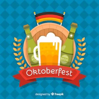 Fond d'oktoberfest design plat