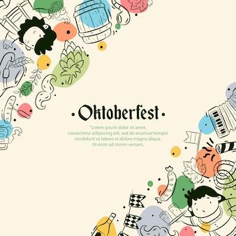 Fond de l'oktoberfest dessiné à la main