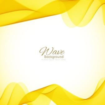 Fond d'onde jaune lumineux