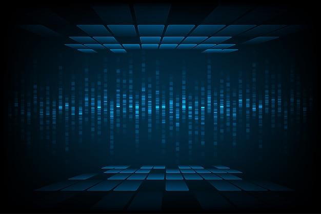 Fond d'onde sonore de technologie