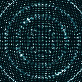 Fond d'ondes numériques
