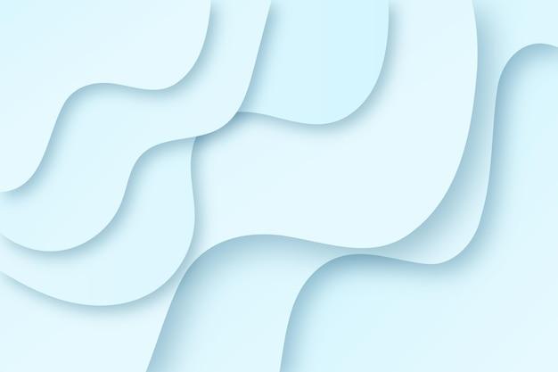Fond ondulé bleu clair de style papier