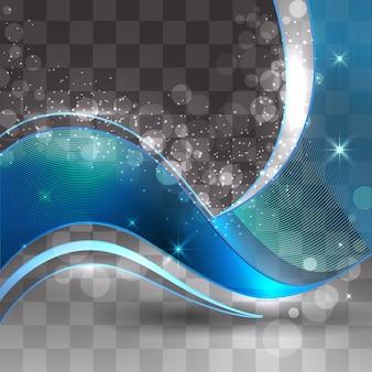 Fond ondulé bleu