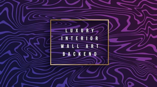 Fond ondulé coloré de luxe