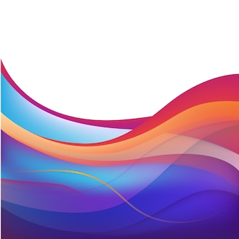 Fond ondulé de ligne de flux coloré abstrait de vecteur, papier peint