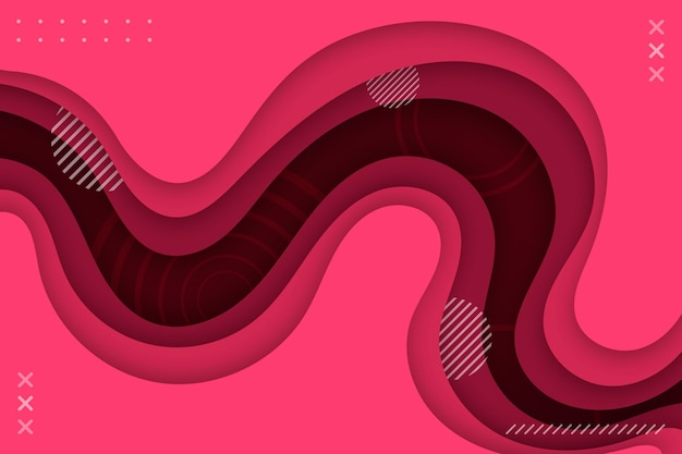 Fond ondulé rose style papier