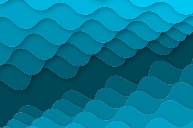 Fond ondulé de style papier dégradé