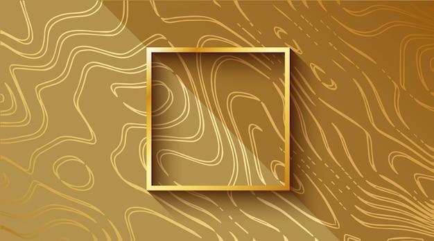 Fond ondulé vibrant de luxe or