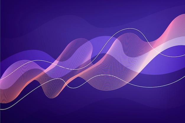 Fond ondulé violet dégradé