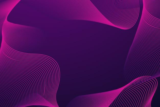 Fond ondulé violet foncé avec espace copie