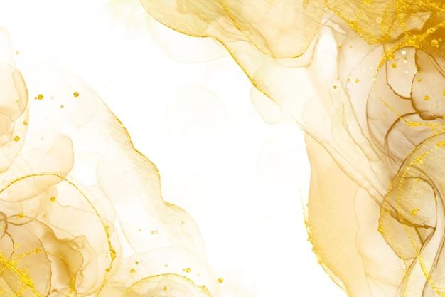 Fond d'or abstrait de luxe avec des éléments brillants