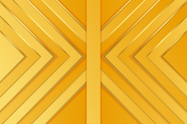 Fond d'or avec des flèches abstraites