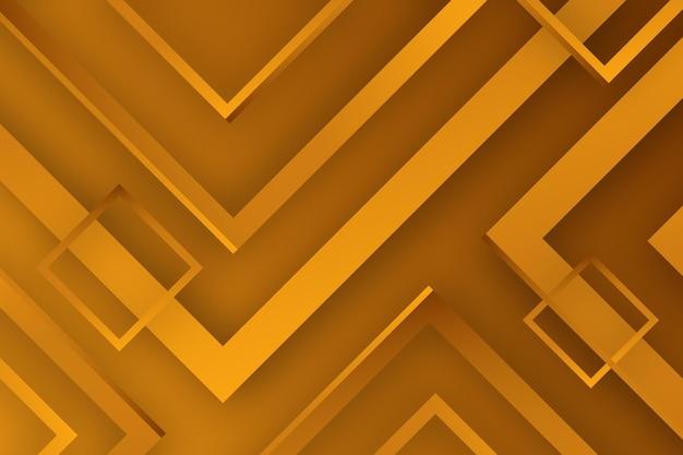 Fond d'or avec des lignes et des carrés