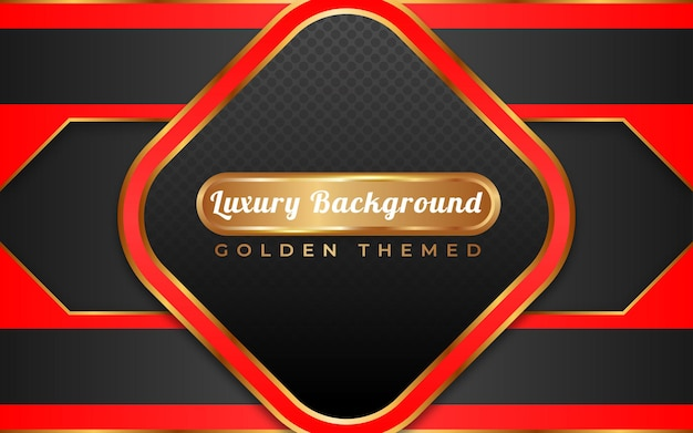 Fond d'or de luxe rouge et noir