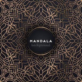 Fond d'or avec mandala