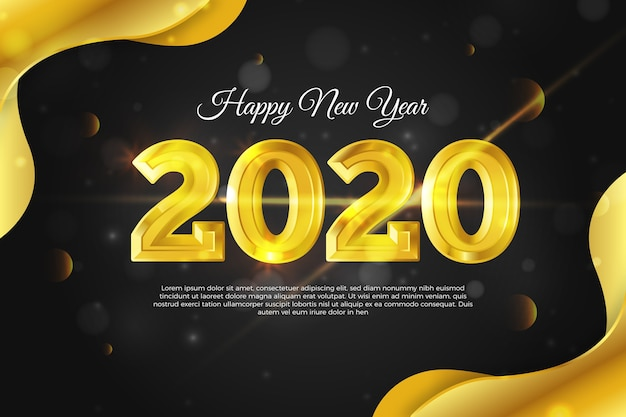 Fond d'or nouvel an 2020