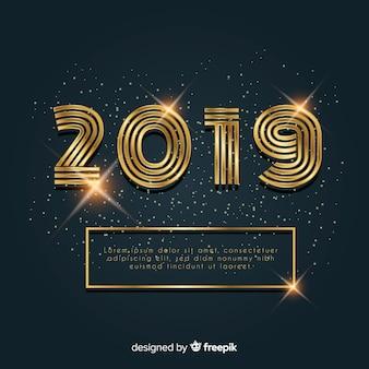 Fond d'or de la nouvelle année 2019