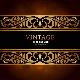 Fond d'or vintage de luxe