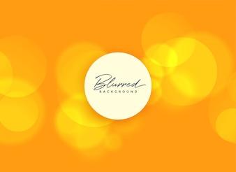 Fond orange avec des lumières floues de bokeh