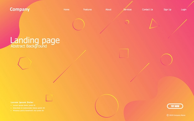 Fond orange. composition liquide. dessins de pages de destination, affiches, dépliants, illustrations vectorielles