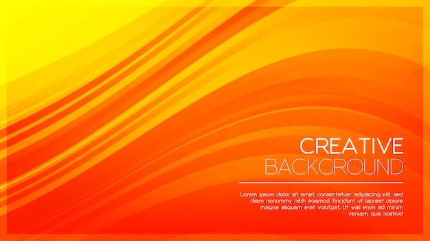 Fond orange créatif