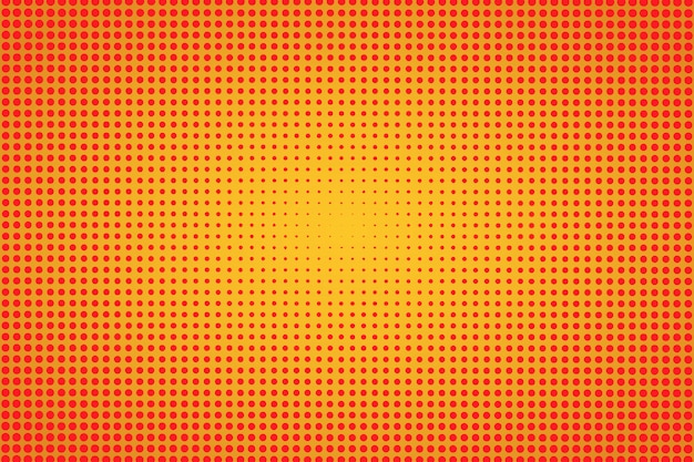 Fond orange demi-teinte rétro. texture de demi-teintes. illustration