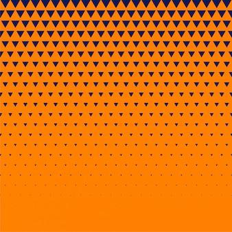 Fond orange avec demi-ton triangle bleu foncé