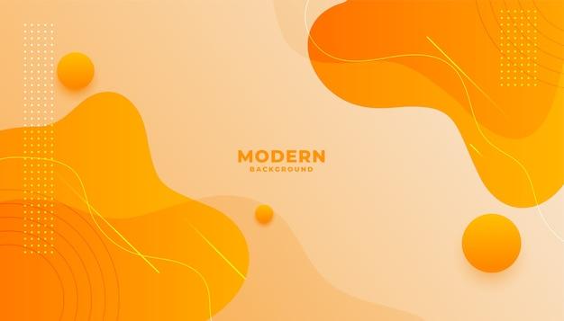 Fond orange avec des formes ondulées dégradées fluides