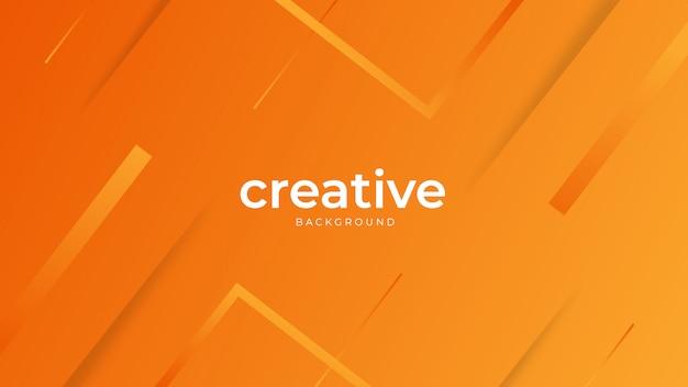 Fond orange géométrique minimal