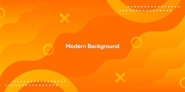 Fond orange géométrique moderne