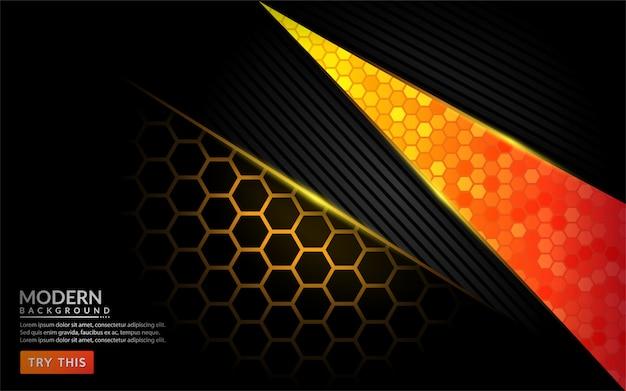 Fond orange moderne abstrait tech. design de fond futuriste