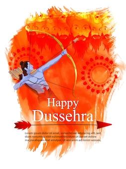 Fond orange pour le festival de dussehra