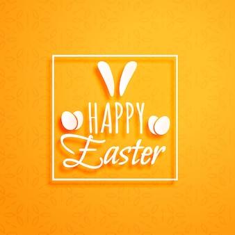 Fond orange pour heureux vacances de pâques