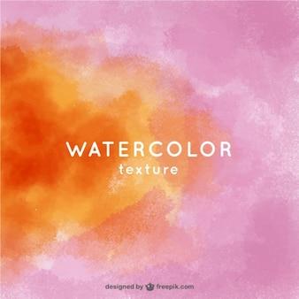 Fond orange et rose dans le style d'aquarelle