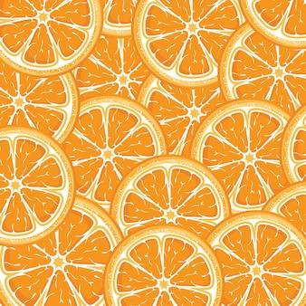 Fond orange de tranches d'oranges juteuses