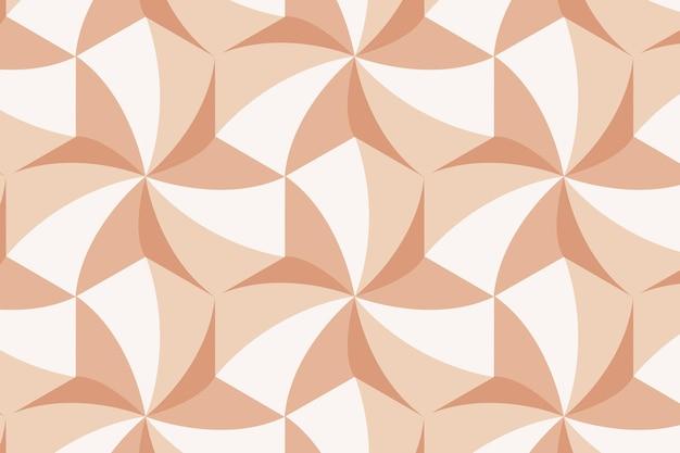 Fond orange de vecteur de motif géométrique 3d moderne