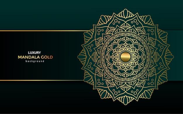 Fond orné de luxe mandala doré, style arabesque.