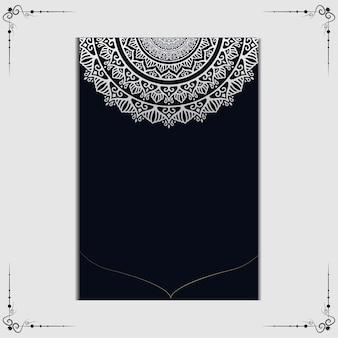 Fond orné de luxe mandala or pour invitation de mariage