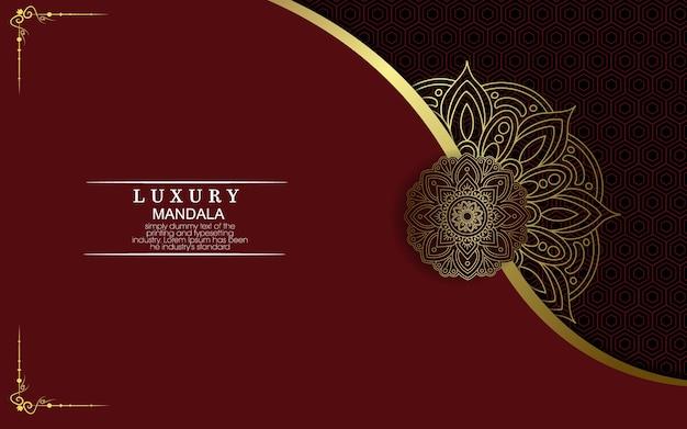 Fond orné de luxe mandala or
