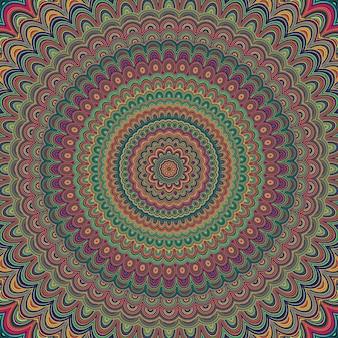 Fond d'ornement abstrait mandala bohème