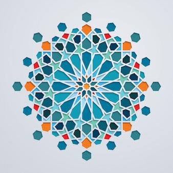 Fond ornement arabe géométrique coloré marocain