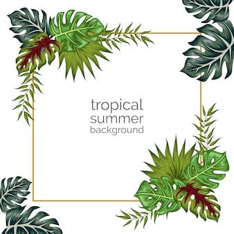 Fond d'ornement floral tropical