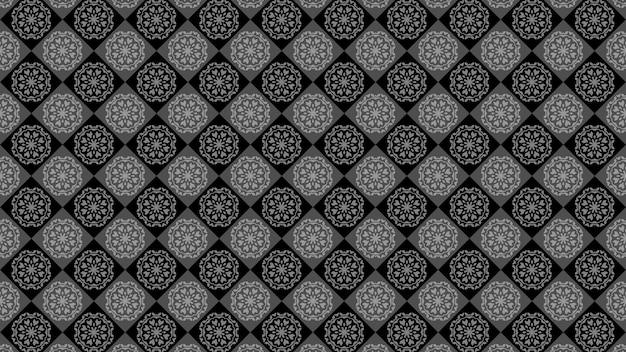 Fond d'ornement vintage noir, papier peint décoratif