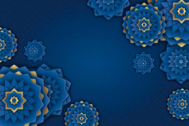 Fond ornemental arabe réaliste en trois dimensions