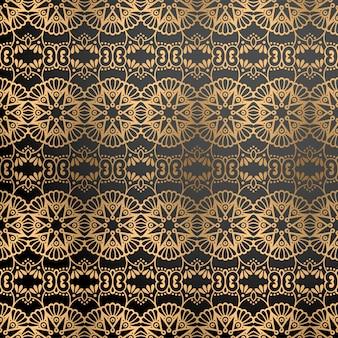 Fond ornemental de luxe en couleur or