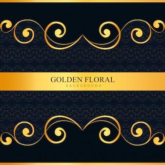 Fond ornemental royal elegent de luxe sombre