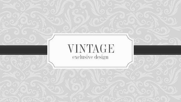 Fond ornemental vintage gris de luxe
