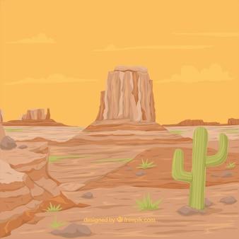 Fond de l'ouest avec des montagnes rocheuses et la végétation