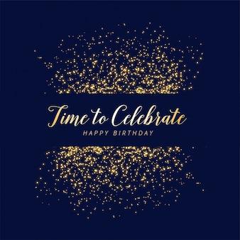 Fond de paillettes et de joyeux anniversaire de célébration