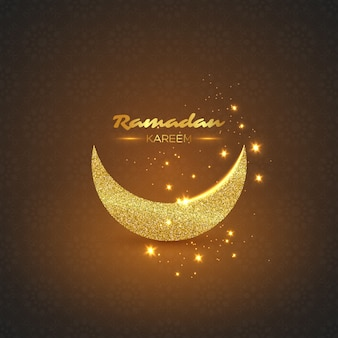Fond de paillettes de ramadan kareem